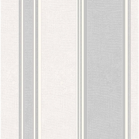 Mallory Stripe Textured Vinyl Wallpaper Dappled Grey