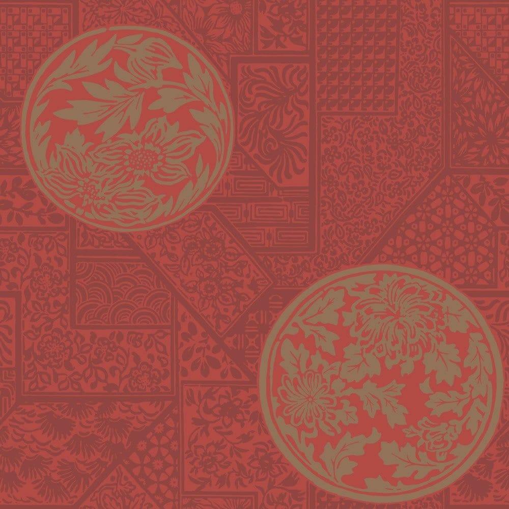 Buy Crown Mandarin Wallpaper Opulent Red Gold