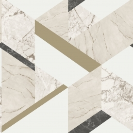 Marblesque Geometric Wallpaper Cream (FD42300)