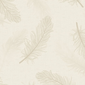 Marcia Feather Wallpaper Cream