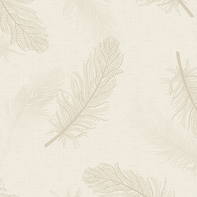 Marcia Feather Wallpaper Cream (35470)