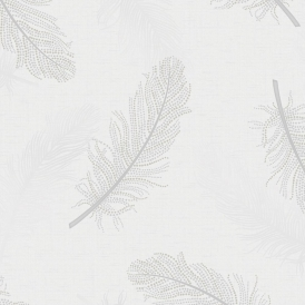 Marcia Feather Wallpaper Grey