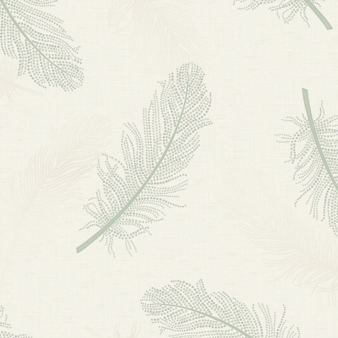 Designer Interiors Marcia Leaf Wallpaper Green (35473)