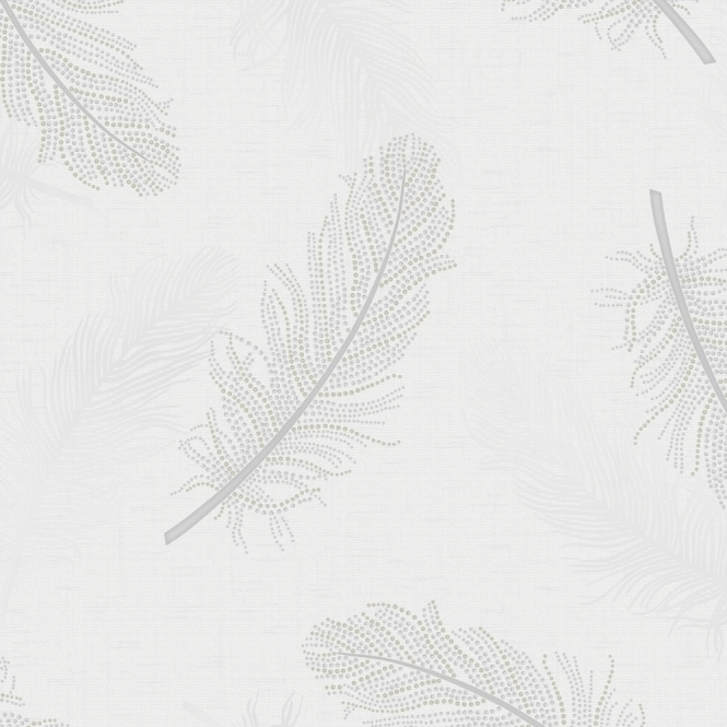 Designer Interiors Marcia Leaf Wallpaper Grey (35471)