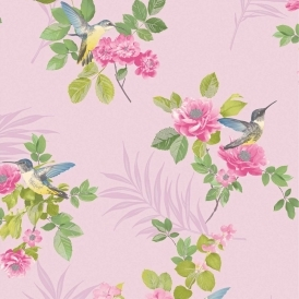 Marni Floral Trail Wallpaper Pink