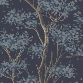 Meadow Floral Trail Wallpaper Navy