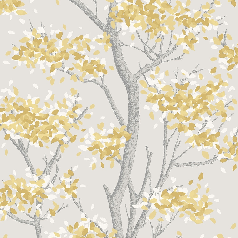 I Love Wallpaper Meadow Floral Trail Wallpaper Yellow