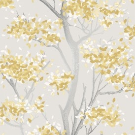 Meadow Floral Trail Wallpaper Yellow