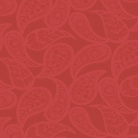 Midnight 2 Floral Wallpaper Red