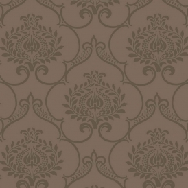Midnight 2 Ornate Wallpaper Brown