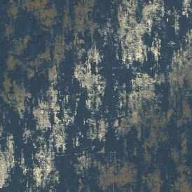 Milan Metallic Wallpaper Navy Gold