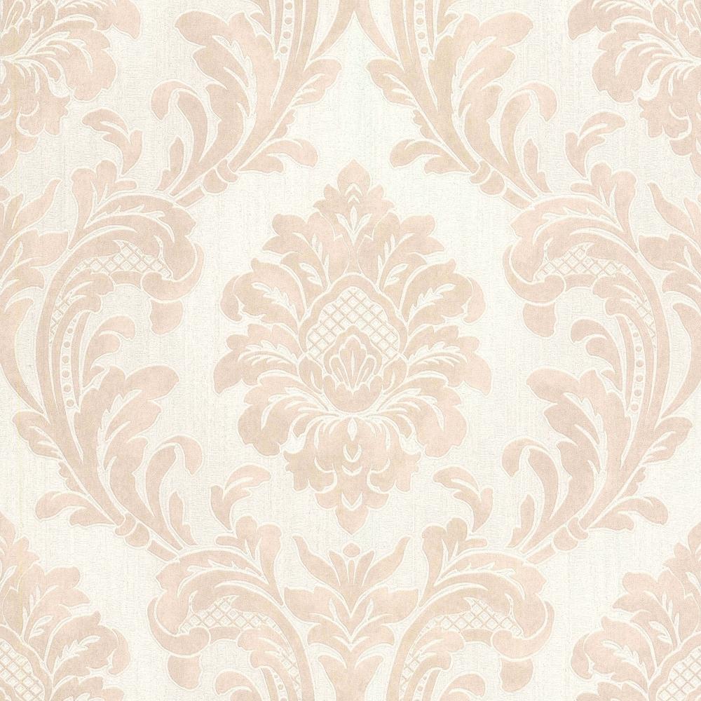 Milano 7 Damask Wallpaper Beige White M95589
