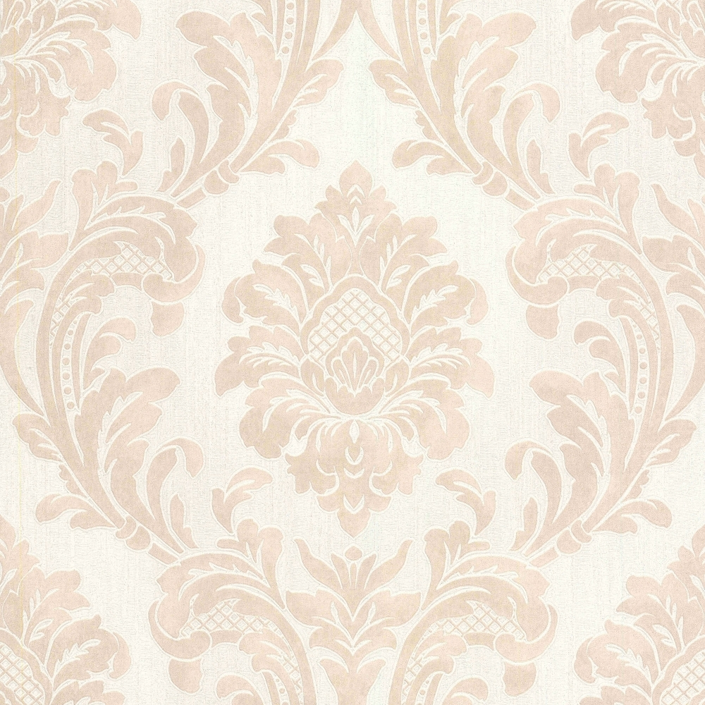 Milano 7 Damask Wallpaper Beige White Wallpaper From I