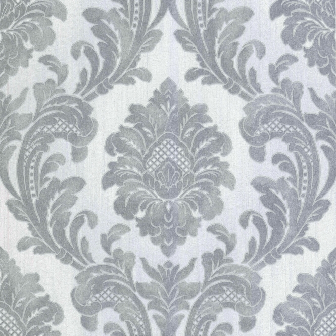 Milano 7 Damask Wallpaper Grey, Silver (M95585)