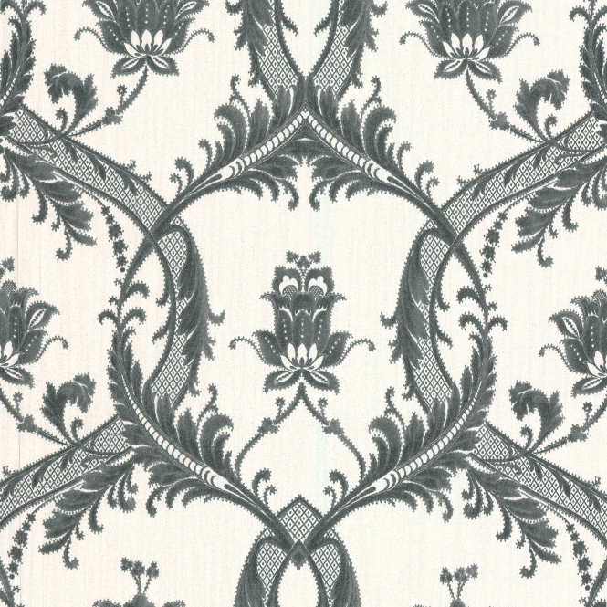 Milano 7 Damask Wallpaper White, Black (M95587)