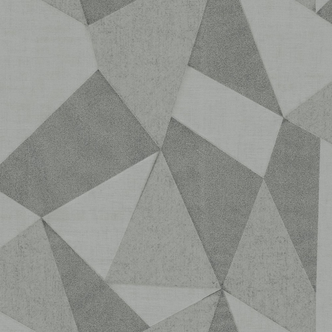 Geometric Fractal Wallpaper Soft Silver, Grey (M95601)