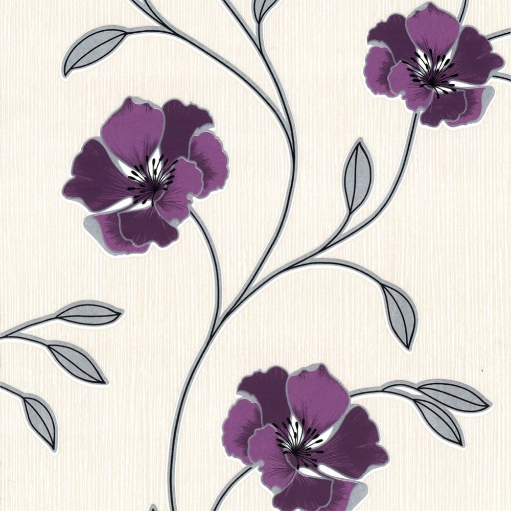 Belgravia Decor Moda Anastasia Wallpaper Purple 201