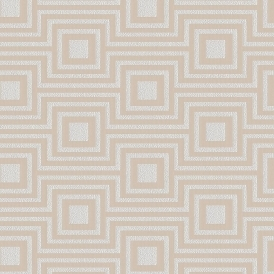 Modena Geometric Wallpaper Cream Silver