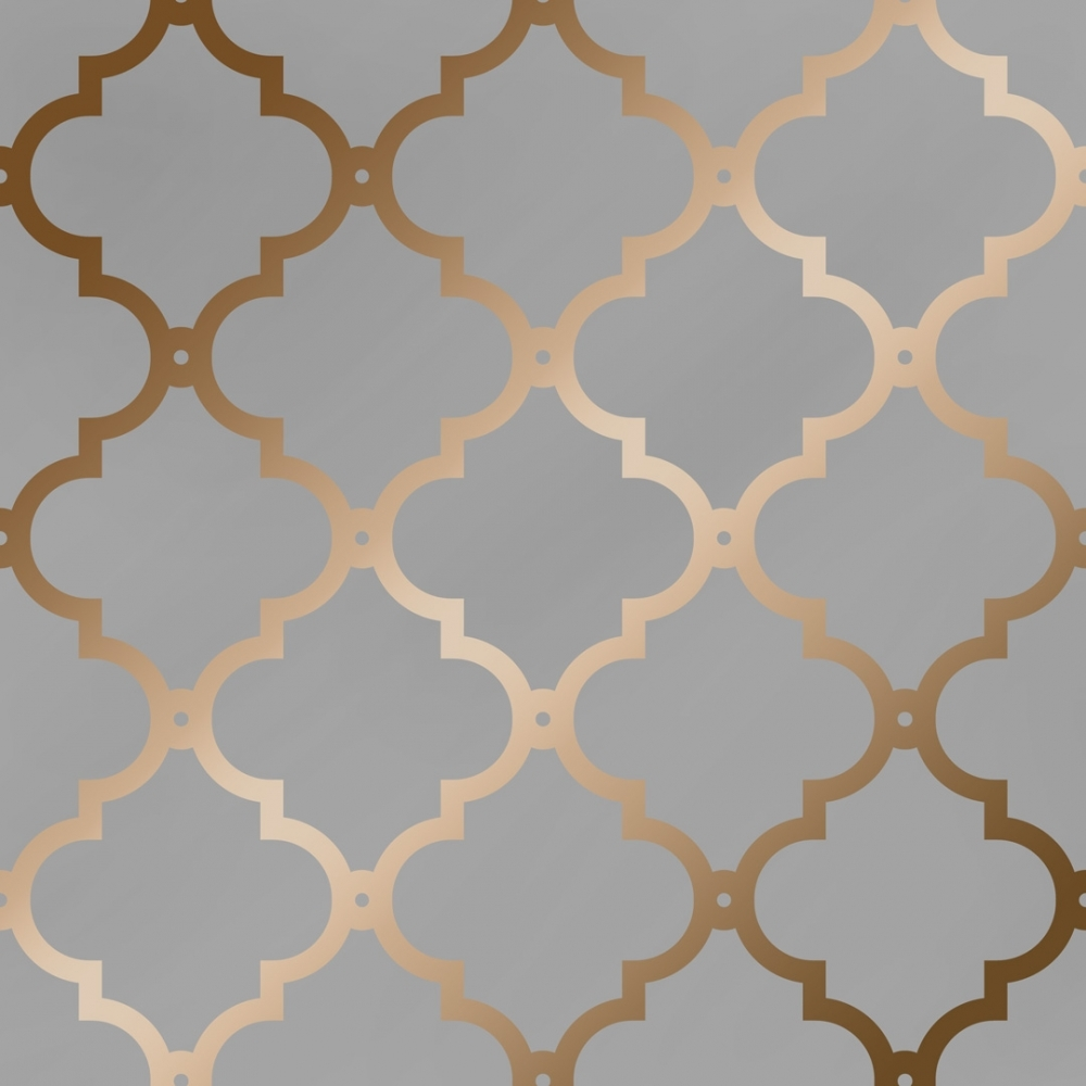 I Love Wallpaper Morocco Trellis Wallpaper Grey Copper