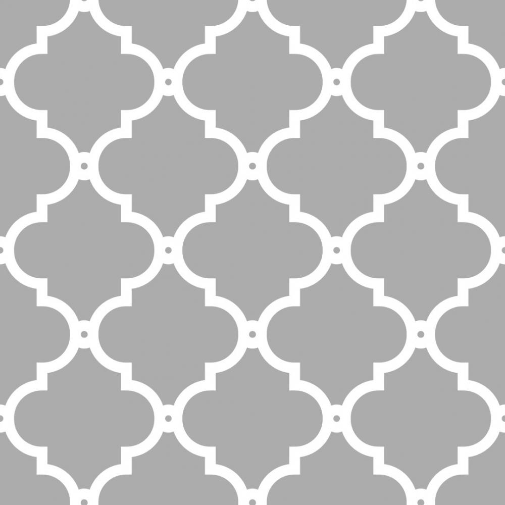 I Love Wallpaper Morocco Trellis Wallpaper Grey White