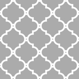 Morocco Trellis Wallpaper Grey White