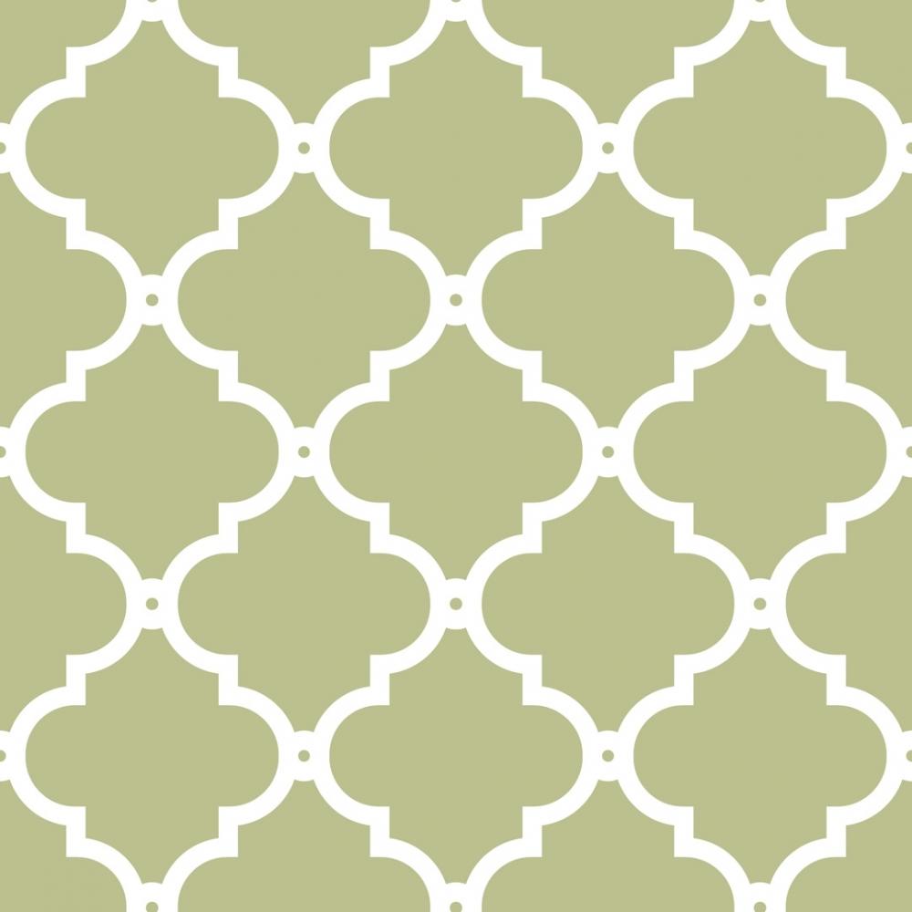 I Love Wallpaper Morocco Trellis Wallpaper Sage White