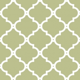 Morocco Trellis Wallpaper Sage White
