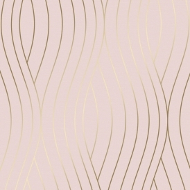 Motion Geo Wave Wallpaper Pink