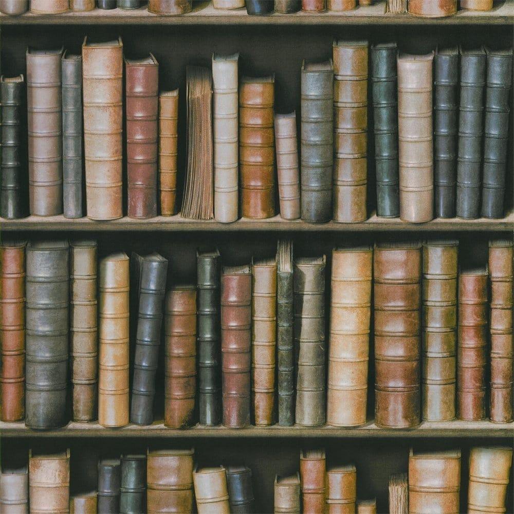 Book Shelf Book Case Effect Wallpaper F92328