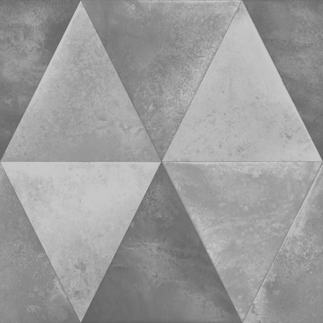 Muriva Caden Triangle Wallpaper Silver (152501)