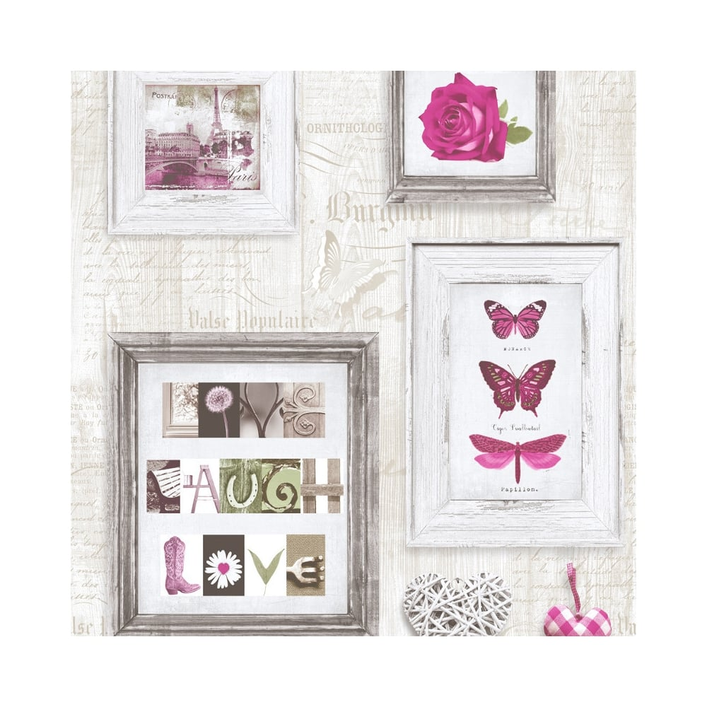Live Laugh Love Frames Wallpaper Pink   Cream  131501. Teenage Girls Bedroom Wallpaper at I Love Wallpaper