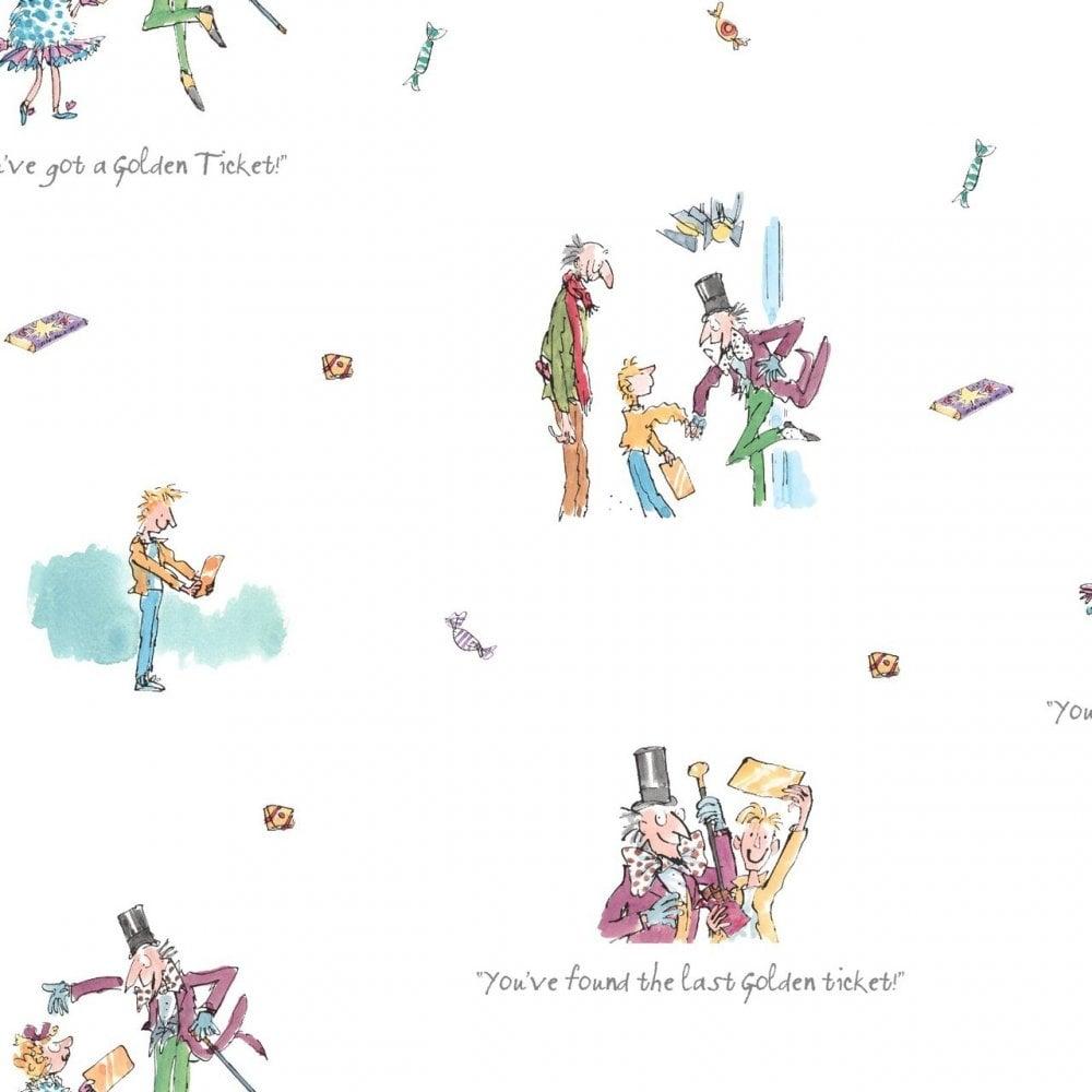 Muriva Roald Dahl Willy Wonka & the Chocolate Factory Wallpaper ...
