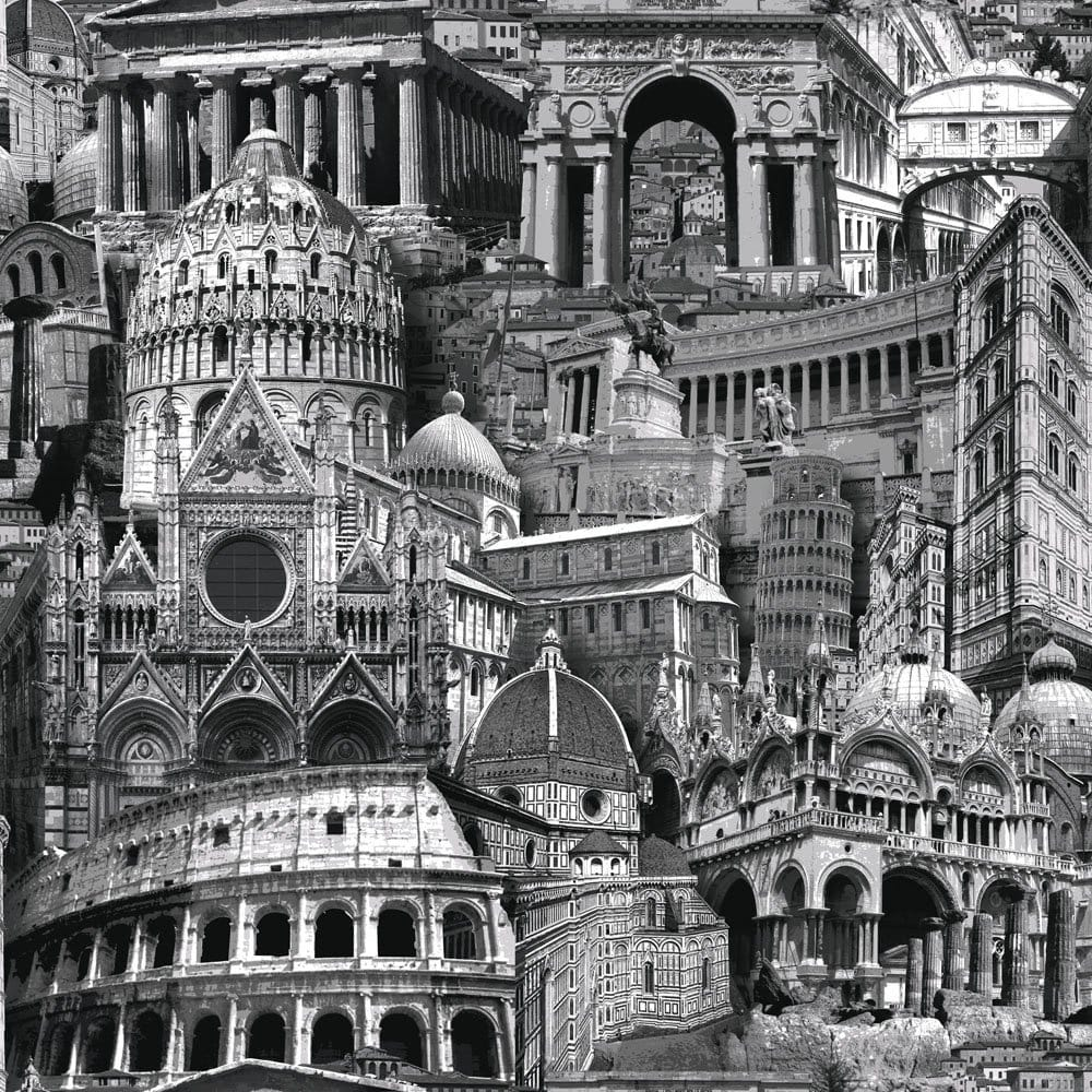 Rome City Wallpaper Black White 102502 Wallpaper