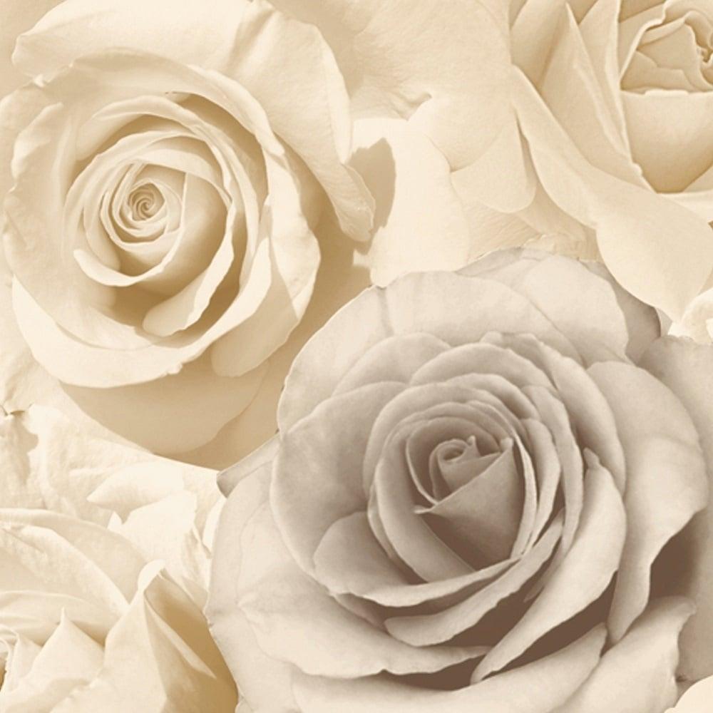 Muriva Rose Madison Wallpaper Beige 119504 Wallpaper
