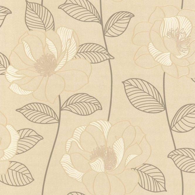 Arthouse Mystique Floral Wallpaper Cream / Brown / Beige (440603)