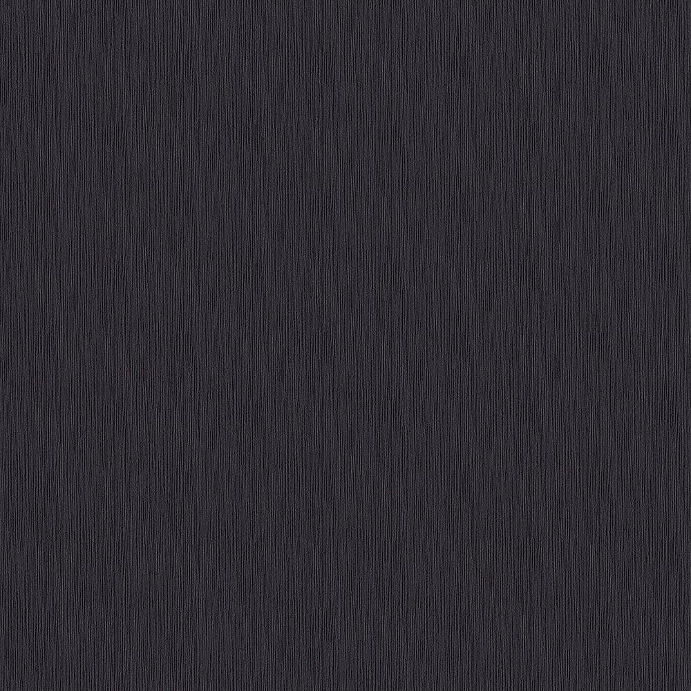 Rasch New Beats Plain Textured Wallpaper Black Charcoal