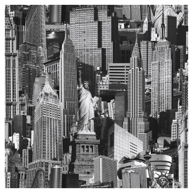 New York City Wallpaper Black / White (102503)