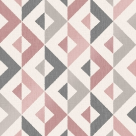 Nordic Geometric Wallpaper Blush