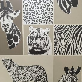 Novelty Animal Wallpaper Brown