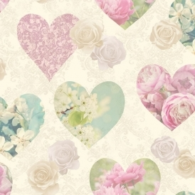 Novelty Heart Wallpaper Multicoloured