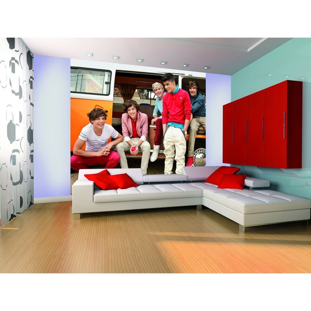 1 wall official one direction campervan wall mural 1d for Campervan wall mural