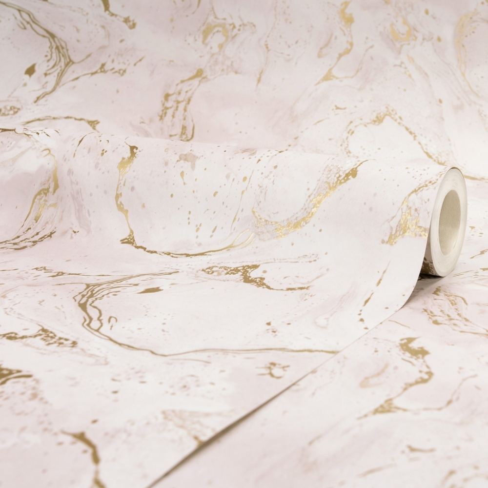 Onyx Marble Metallic Wallpaper Pink Gold Wallpaper From I Love