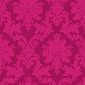 Opera Byron Damask Wallpaper Pink