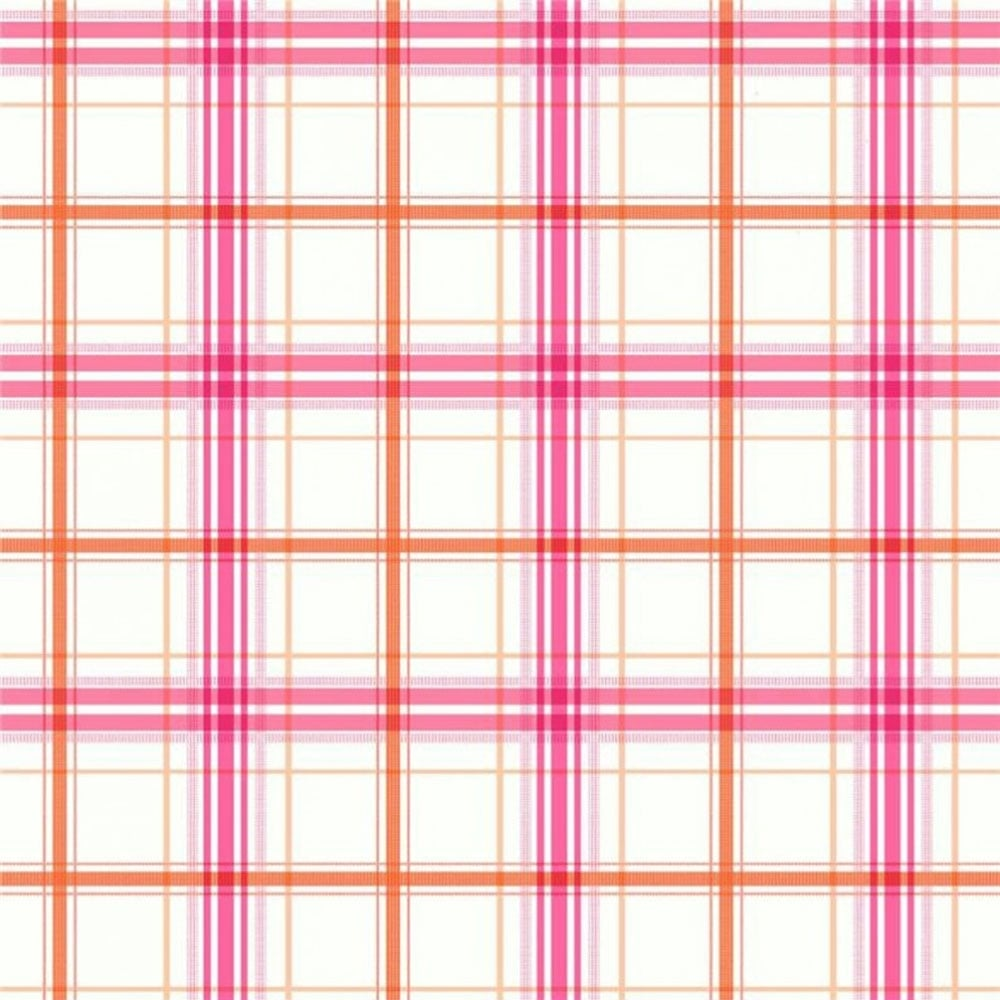 Arthouse Opera Check Mate Wallpaper Pink Orange