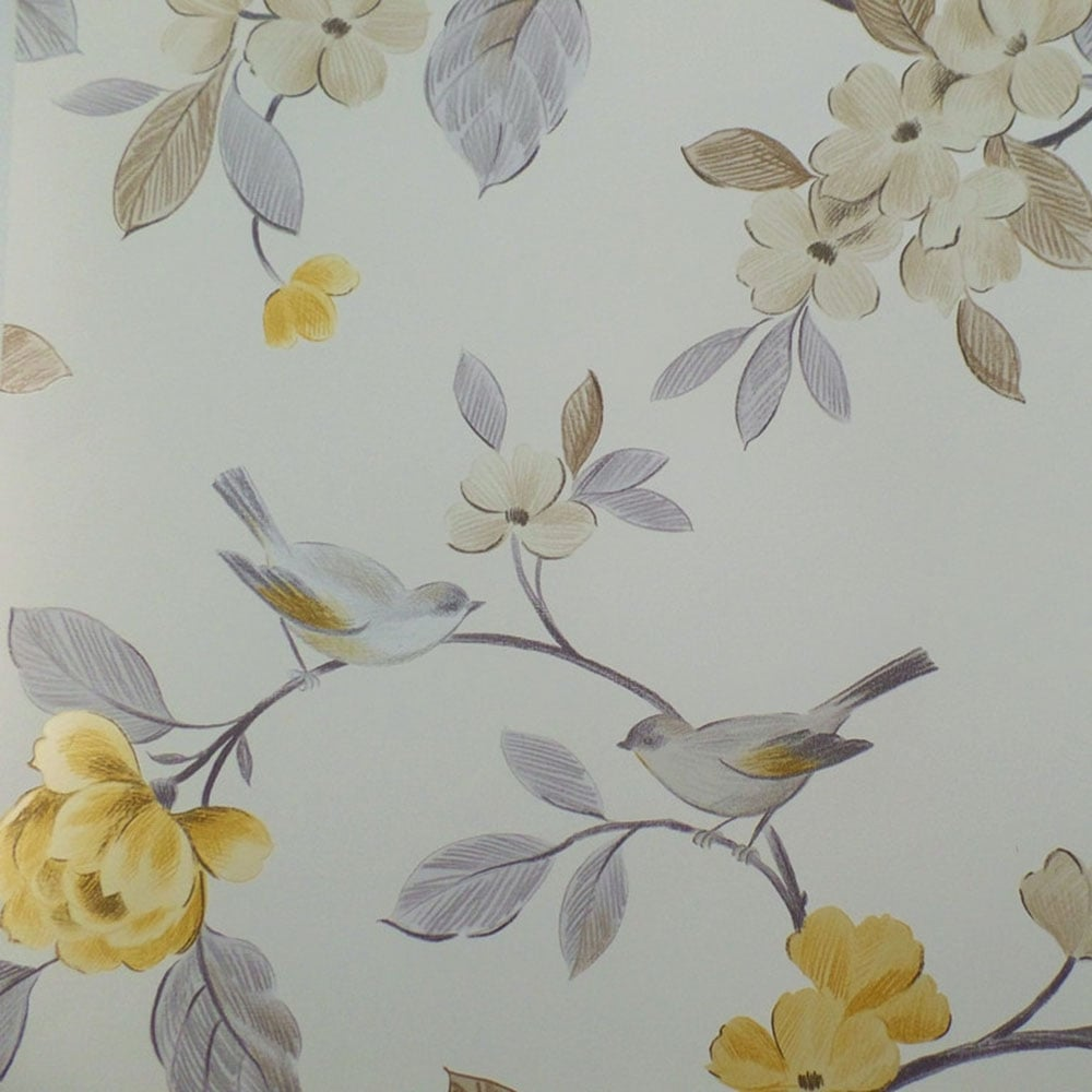 Arthouse Opera Lara Floral Wallpaper Yellow 414503