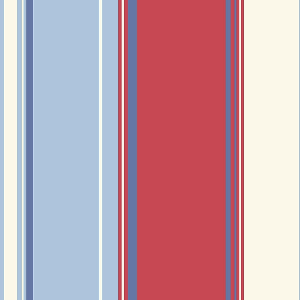 Arthouse Opera Lorelli Stripe Wallpaper Red, Blue (650904