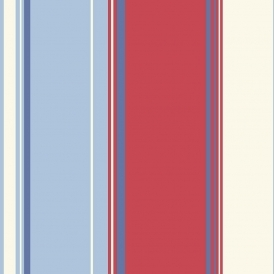 Opera Lorelli Stripe Wallpaper Red Blue