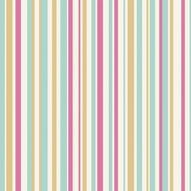 Opera Super Stripe Wallpaper Pink Teal