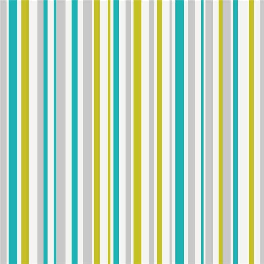Arthouse Opera Super Stripe Wallpaper Teal, Green (533606
