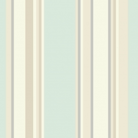 Orla Stripe Wallpaper Duck Egg